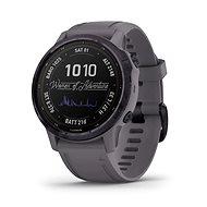 Smart hodinky Garmin Fenix 6S Pro Solar, Amethyst Steel, Shale Gray Band
