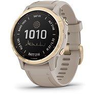 fenix 6S Pro Solar, Light Gold, Sand Band - Smart hodinky