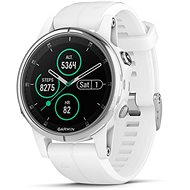 Garmin Fenix 5S Plus Sapphire White Optic Carrera White Band - Smart hodinky