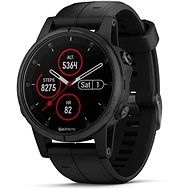 Garmin Fenix 5S Plus Sapphire Black Optic Black Band - Smart hodinky