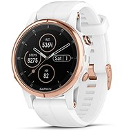 Garmin Fenix 5S Plus Sapphire Rose Gold Optic Carrera White Band - Smart hodinky