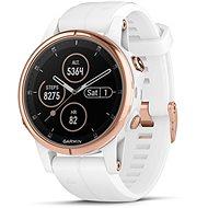 Garmin Fenix 5S Plus Sapphire Rose Gold Optic Carrera White Band - Smartwatch