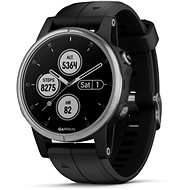 Garmin Fenix 5S Plus Silver Optic Black Band - Smart hodinky