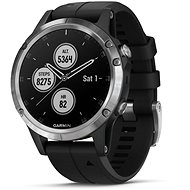 Garmin Fenix 5 Plus Silver, Black Band - Smart hodinky
