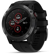 Garmin Fenix 5X Plus Sapphire Black, Black Band - Smart hodinky