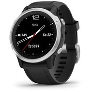 Garmin Fenix 6S Glass, Silver/Black Band - Smart hodinky