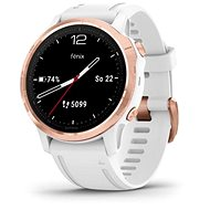 Garmin Fenix 6S Glass, RoseGold/White Band (MAP/Music) - Smart hodinky