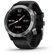 Garmin Fenix 6 Glass, Silver/Black Band - Smart hodinky