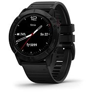 Garmin Fenix 6X Glass, Black/Black Band (MAP/Music) - Smart hodinky