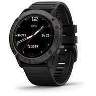Garmin Fenix 6X Solar, TitaniumGrayDLC/Black Band (MAP/Music) - Smart hodinky