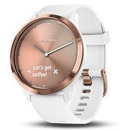 Garmin vívomove HR Sport Rose Gold White (veľkosť S/M) - Smart hodinky