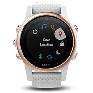 Garmin Fenix 5S Sapphire Rose Gold Optic, White band - Smart hodinky