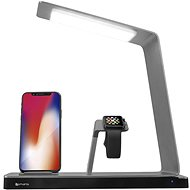 Bezdrôtová nabíjačka 4smarts Charging Station TwinDock Wireless 2 with LED Lamp for iPhone, Apple Watch