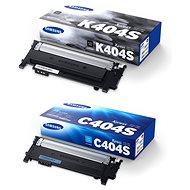 Samsung CLT-K404S čierny + CLT-C404S azúrový