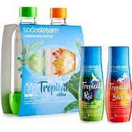 SodaStream Fľaše Tropical Edition 2 ks Prales + Príchute Ananás-Kokos a Mango-Kokos - Súprava