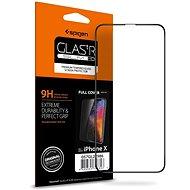 Spigen Glass FC HD Black iPhone X - Ochranné sklo