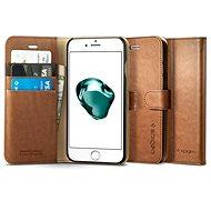 Spigen Wallet S Brown iPhone 7 Plus /8 Plus - Puzdro na mobil