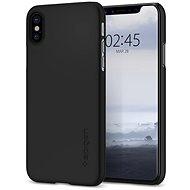 Spigen Thin Fit Black iPhone X - Ochranný kryt
