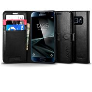 SPIGEN Wallet S Black Samsung Galaxy S7 - Puzdro na mobil