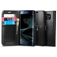 SPIGEN Wallet S Black Samsung Galaxy S7 Edge - Puzdro na mobil