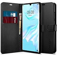 Kryt na mobil Spigen Wallet S Saffiano Black Huawei P30 Pro - Kryt na mobil