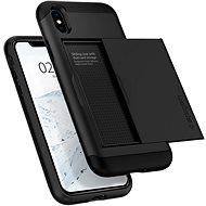 Spigen Slim Armor CS Black iPhone XS/X - Kryt na mobil