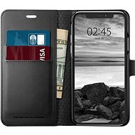 Spigen Wallet S Black iPhone XS/X - Kryt na mobil