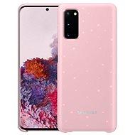 Kryt na mobil Samsung Zadný kryt s LED diódami pre Galaxy S20 ružový - Kryt na mobil