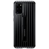 Kryt na mobil Samsung  Tvrdený ochranný zadný kryt so stojanom pre Galaxy S20+ čierny - Kryt na mobil