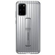 Kryt na mobil Samsung Tvrdený ochranný zadný kryt so stojanom pre Galaxy S20+ strieborný - Kryt na mobil