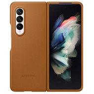 Puzdro na mobil Samsung kožené flipové puzdro pre Galaxy Z Fold3 svetlo hnedé - Pouzdro na mobil