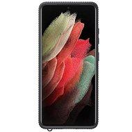 Kryt na mobil Samsung Clear Protective Kryt pre Galaxy S21 Ultra Black - Kryt na mobil