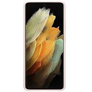 Kryt na mobil Samsung Silikonový Kryt pre Galaxy S21 Ultra Pink - Kryt na mobil