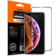 Spigen Glass FC HD Black iPhone XS Max - Ochranné sklo