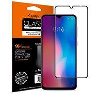 Spigen Glass FC HD Black Xiaomi Mi 9 - Ochranné sklo