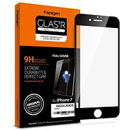 Spigen Glass FC Black iPhone 8/7 - Ochranné sklo