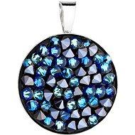 EVOLUTION GROUP 34250.5 bermuda blue s kryštálmi Swarovski® (Ag 925/1000, 2,5 g) - Prívesok