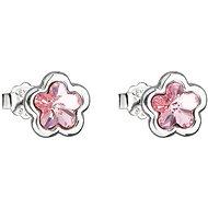 EVOLUTION GROUP 31255.3 lt. rose kvietok puzeta motýlik dekorované kryštálmi Swarovski® (Ag 925/1000) - Náušnice