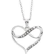 JSB Bijoux Heart Infinity with Swarovski Crystals 92300398cr (Ag925/1000, 2.59g) - Necklace