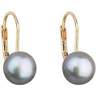 EVOLUTION GROUP 921009.3 grey dekorovaná pravou perlou AAA 8-8,5 (Au585/1000, 1,02 g) - Náušnice
