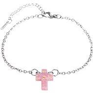 JSB Bijoux Křížek z opálku v růžové barvě 61500932ro