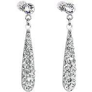 Krištáľové náušnice Crystal Drops zdobené krištáľmi Swarovski 31163.1 (925/1000, 1,3 g) - Náušnice