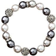 Grey perlový náramok zdobený kryštálmi Swarovski 33060.3 - Náramok