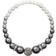 Šedá perlový náramok zdobený kryštálmi Swarovski 33062.3 - Náramok