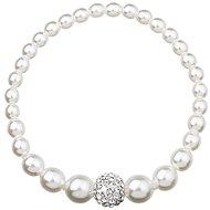 Biely perlový náramok dekorovaný kryštálmi Swarovski 33063.1 - Náramok