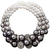 EVOLUTION GROUP Grey perlový náramok dekorovaný kryštálmi Swarovski 33064.3 (925/1000, 35 g) - Náramok