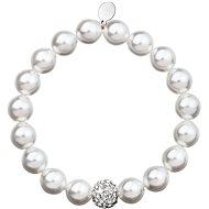 Biely perlový náramok zdobený krištáľmi Swarovski 33074.1 - Náramok