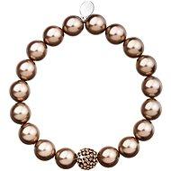 Bronze perlový náramok zdobený kryštálmi Swarovski 33074.3 - Náramok