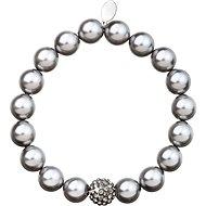 EVOLUTION GROUP Light grey perlový náramok dekorovaný kryštálmi Swarovski  33074.3 - Náramok