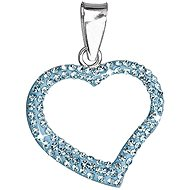 Aqua prívesok srdce zdobený krištáľmi Swarovski 34093.3 (925/1000, 0.7 g) - Prívesok